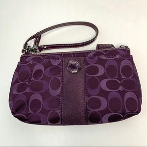 NWOT Coach Purple Wristlet Clutch
